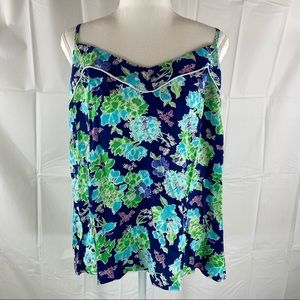 Sussan Multicolored Floral Print Cami Top Size M